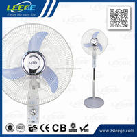 FS40-38 Strong wind 12V4.5AH emergency battery AC/DC 16 inch rechargeable fan with LED