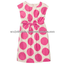 100 % COTTON WOVEN GIRLS POLKA DOT DRESS