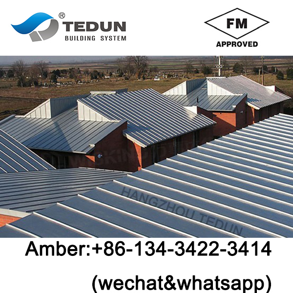Trizip standing seam system metal villa roof panel