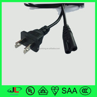 UL approved USA standard NEMA 1-15P to IEC C7 connector ac power 2 pin extension cord plug