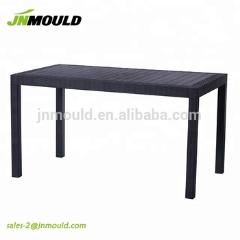 plastic injection mould rectangle plastic rattan table