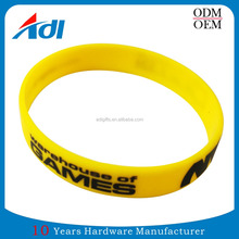 custom high quality diy wrist silicone bracelet for sale