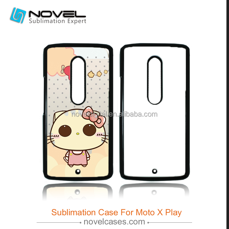 Heat transfer sublimation mobile phone case for moto x play,2D PC Case