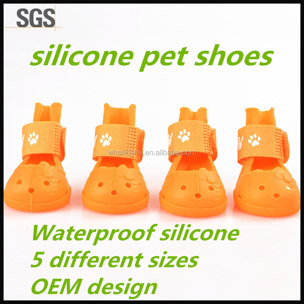 Wholesale Oem Waterproof Silicone Rubber Pet Dog Rain Shoes