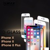 Promotion 0.33mm thickness for waterproof high clear tempered Glass screen protector for iPhone X / 8 / 8 plus screen guard