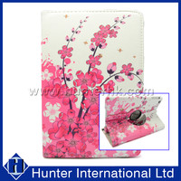 Pink Flower Rotating Tablet Case For iPad Mini 4