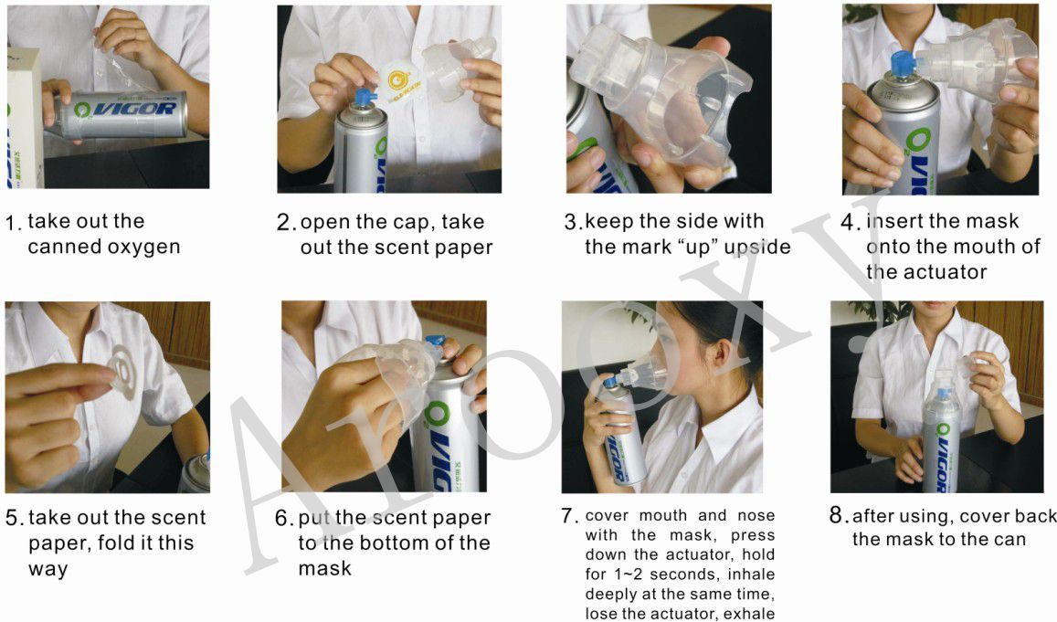 Arooxy 12L oxygen mask for empty aerosol can