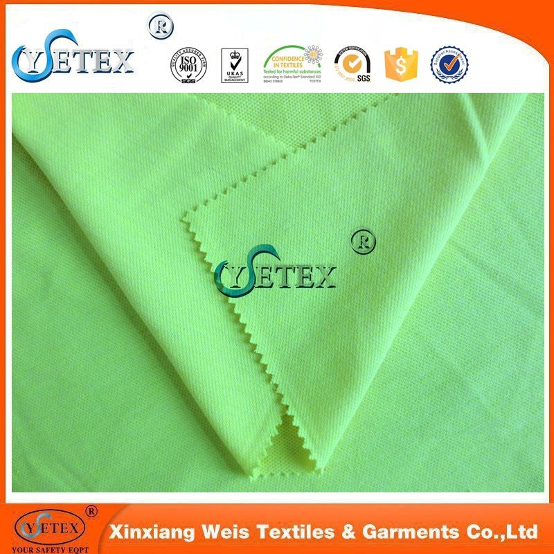 Flame retardant yellow cotton knitted fashion fabric in low price
