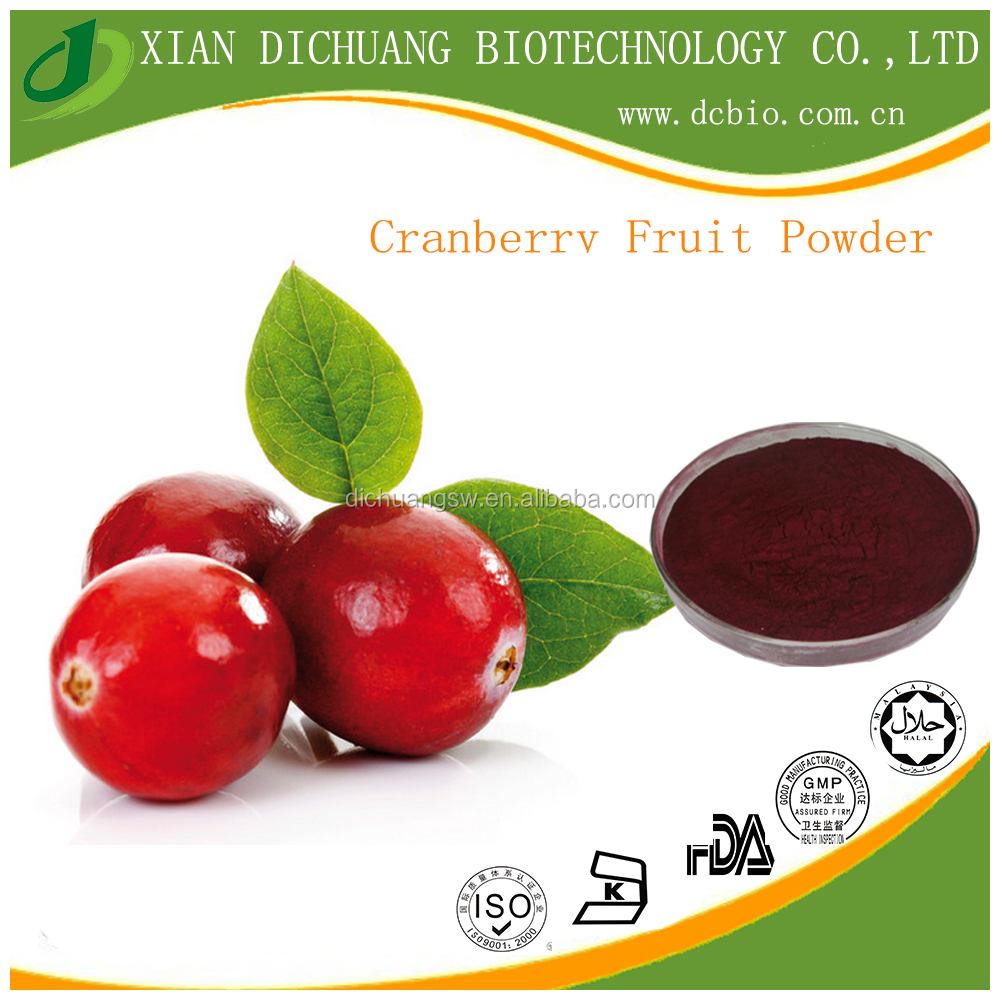 Freeze Dried Cranberry Fruit Concentrate Extract Powder Antioxidant Pharmaceutical and Food Grade Free Sample