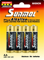 Dry batery aa wholesale alkaline battery 1.5V LR6