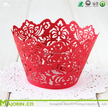 Cupcake Wrappers Artistic Bake Cake Paper Cups Lace Laser Cut Baking Cup for Wedding Party Birthday Decoration