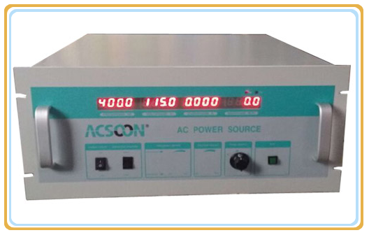 Acsoon brand 400hz 115V/36V/21V AC power supply for aviation testing