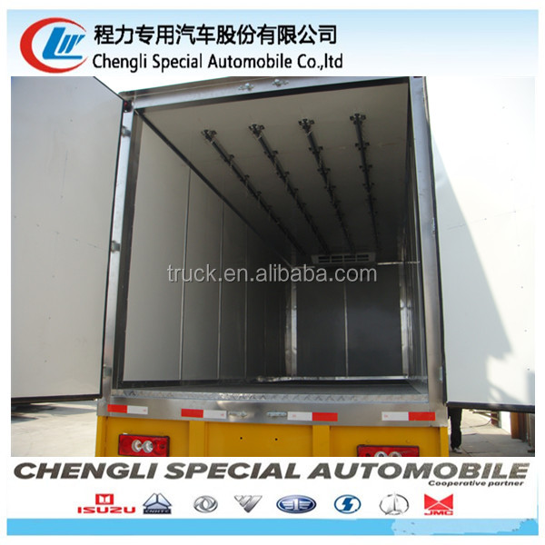 3tons hot sale vegetable van truck box refrigerator for sale