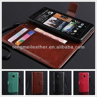 New Luxury Wallet Stand Flip Leather Case Skin Cover Pouch For HTC ONE M7,For HTC ONE M7 Leather Case