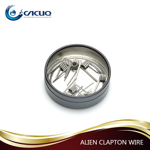 2017 New E Cigs Vape Hot Wire New Notch Coils Wire Clapton/alien/hive/tiger 8 In 1 Demon Killer Prebuilt Coil in stock