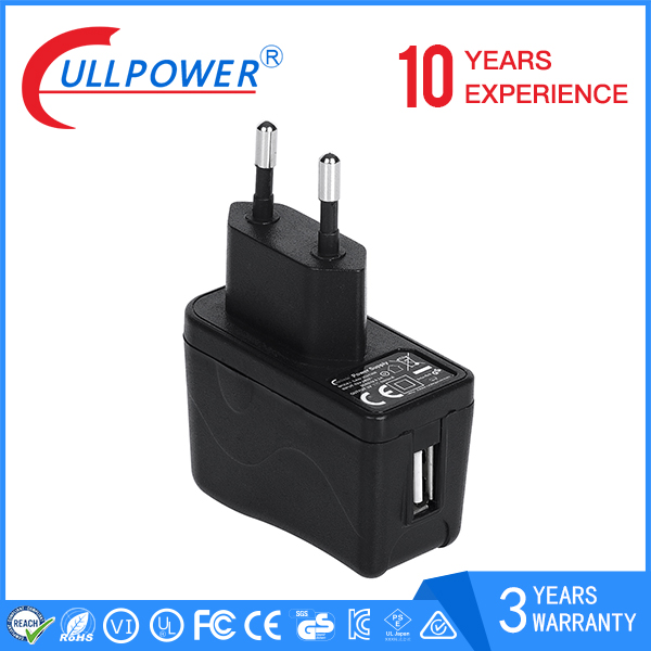 high quality 12v 0.5a 5v 1a ac dc usb wall power charger with 3 years warranty
