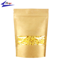 Alibaba Top Sell Stand Up Kraft Paper Bag With Clear Window, High Quality Custom Printed Kraft Paper Bag%