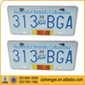 reflective offset printing American or Canada car plate