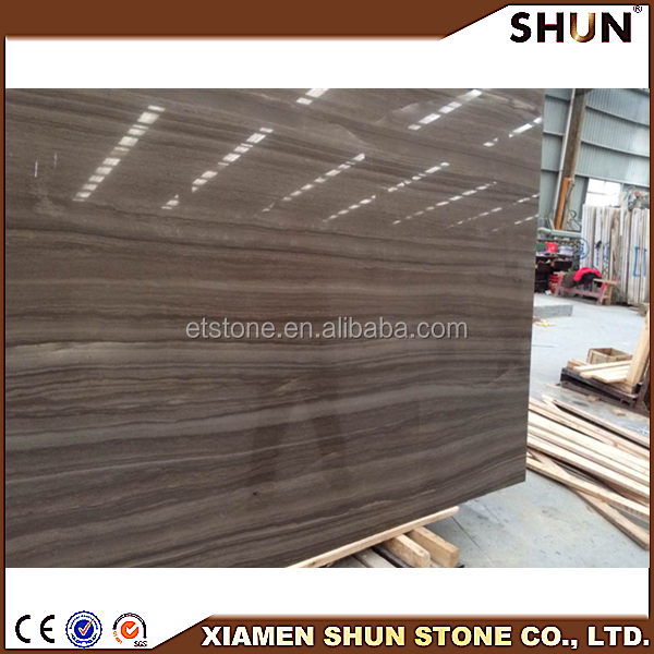 "Athen Grey Wood Marble Supplier 12""*24""*3/8"", Cappuccino coffee marble tile, Brown mable floor tiles"