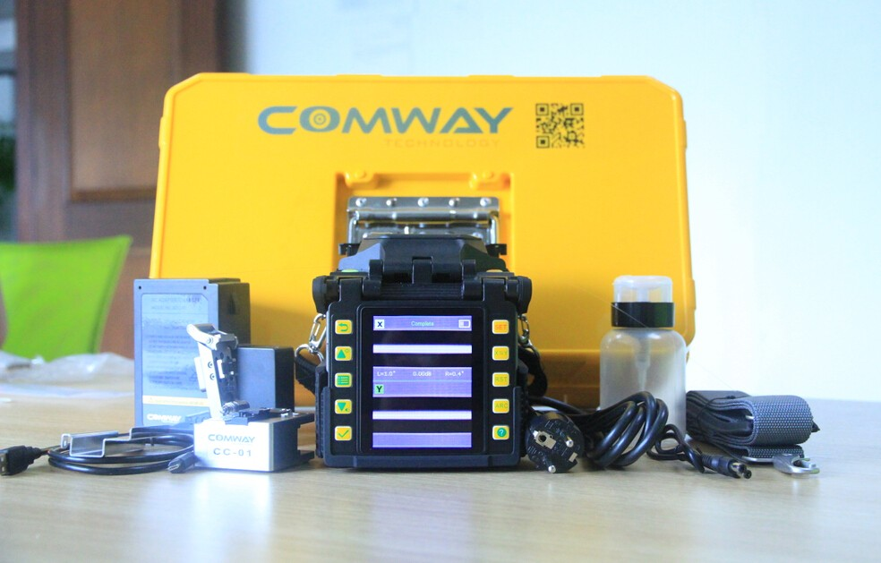 CORE to CORE alignment usa COMWAY C10 fusion splicer machine