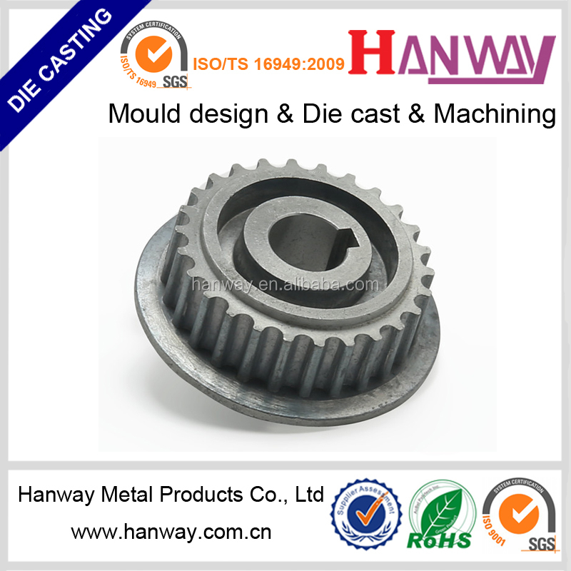 China OEM manufacturer aluminum die casting cnc machining motorcycle parts generator pulley