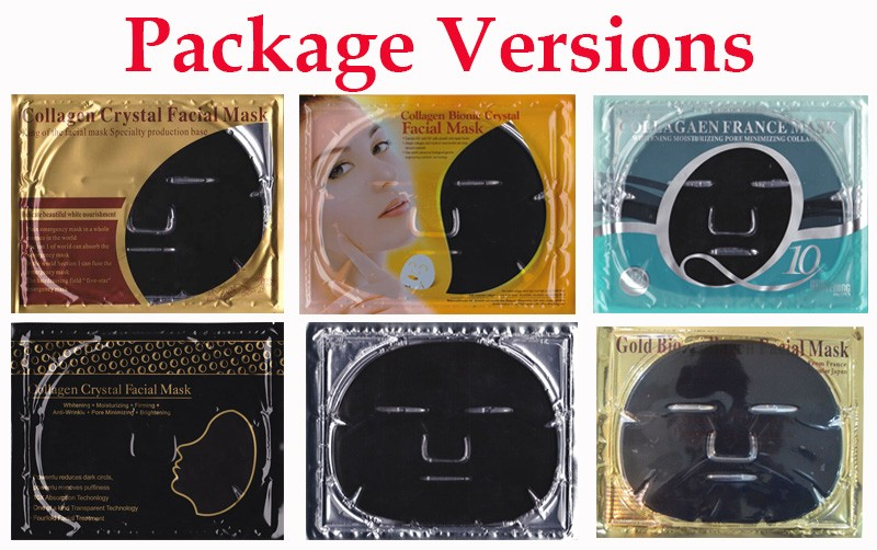 OEM bamboo charcoal collagen crystal facial mask infued with multi vitamins and hyaluronic acid