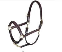 Originals Triple Stitch Adjustable Horse Halter Double Layered USA Leather