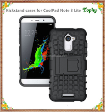 Top quality branded phone stand case for coolpad note 3 lite