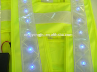 pretty safety LED reflective flak vest hot sale