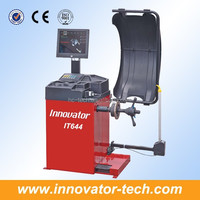 Advanced wheel alignment and balancing machine for wheel balancing with width guage LCD monitor CE approve model IT644