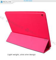 Book style folio flip fold stand case for ipad pro, pu leather cover for ipad