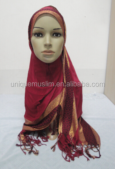NL164 new style rayon muslim long scarf,popular scarf