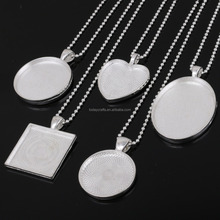 2017 hot sale jewelry picture frame necklace pendants setting frames
