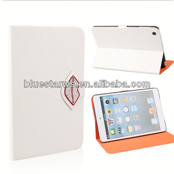 2014 high quality for ipad mini 2 pu leather case cell phone leather case
