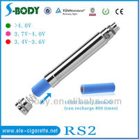 High vapor e-cigarette etched ego battery RS2 battery from shenzhen
