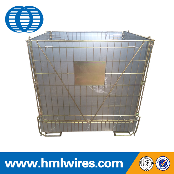 Rigid welded storage PET preform wire mesh cage