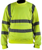 yellow long sleeve hi vis reflective seurity polo shirt with stripes