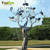 304 Stainless Steel Garden Outdoor Tree Sculpture For Sale