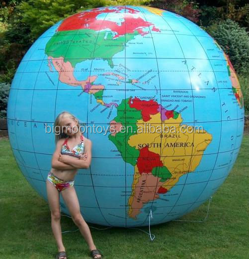 2017 new inflatable advertising earth/ earth balloon