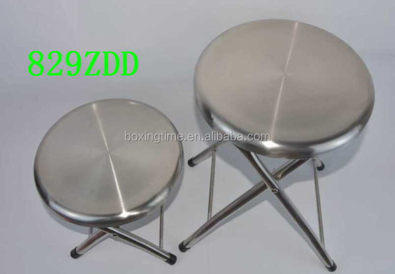 Outdoor Camping Stainless Steel Non-magnetic Folding Fishing chairs / fishing stool