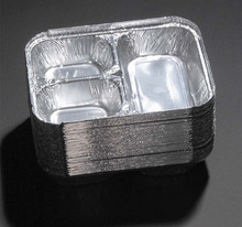 3 Compartment Disposable Aluminum Foil Food Tray