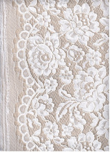 new design white thread lace fabric 35%N 65%C