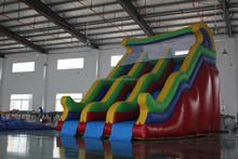 exciting inflatable slide water, cheap used inflatable water slide for sale / durable inflatable foating water slide