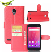 Fashion PU Leather Wallet Card Holder with Stand Protective Case For ZTE Blade A520