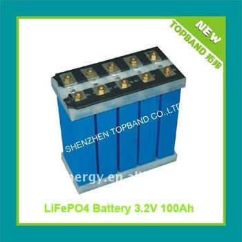 3.2V 100Ah car lifepo4 battery cell
