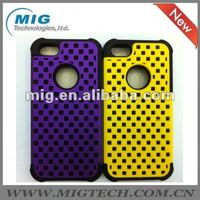 heavy duty 2 in 1 style silicon and PC phone case for iphone 5S, for iphone 5S case 8 colors optional