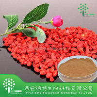 Pure Natural Anti-aging Goji Extract Powder 10% Polysaccharide with low price