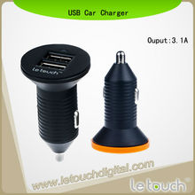 Creative 3.1A 2 USB Car Charger For iPhone 5