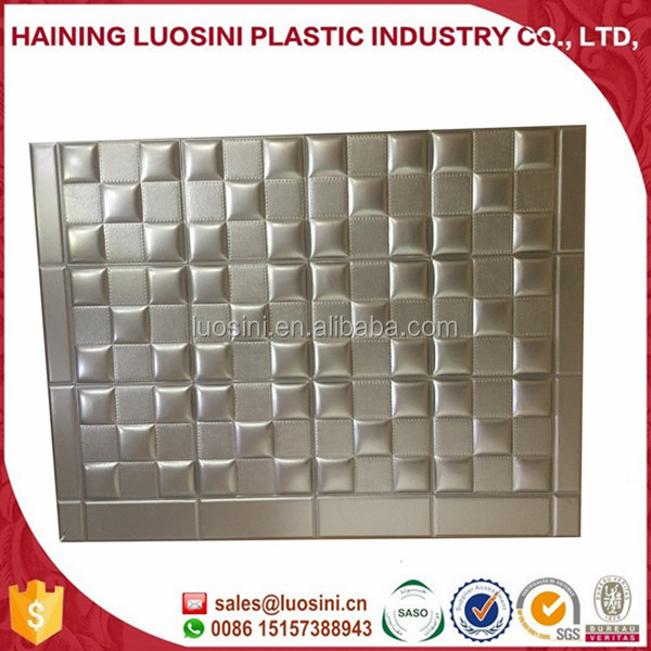 2016 new design Embossed 3D effect leather wall panel