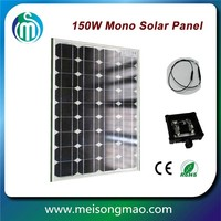 High quality solar panel 160W mono solar modules with CE certificate